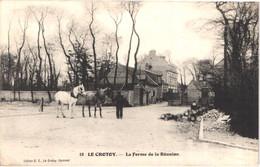 FR80 LE CROTOY - La Ferme De La Réunion - Chevaux - Animée - Belle - Le Crotoy