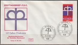 BRD FDC 1974 Nr.810  125 Jahre Diakonie  (d 4297 ) - FDC: Enveloppes