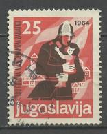 Yougoslavie - Jugoslawien - Yugoslavia 1964 Y&T N°972 - Michel N°1075 (o) - 25d Corps De Pompiers - Used Stamps