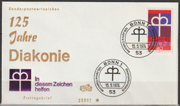 BRD FDC 1974 Nr.810  125 Jahre Diakonie  (d 4293 )Günstige Versandkosten - FDC: Enveloppes