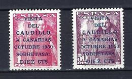 ⭐ Espagne - YT N° 806 A Et 807 A ** - Neuf Sans Charnière - Très Bon Centrage - 1950 ⭐ - 1931-50 Oblitérés