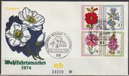 BRD FDC 1974 Nr.818-821 25 Jahre Wohlfahrtsmarken,Blumen ( D 4312 )  Günstige Versandkosten - FDC: Enveloppes