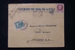 FRANCE - Taxe De Angers Sur Enveloppe De Paris En 1944 - L 90595A - Lettres Taxées