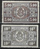 Belgien Belgium 1940. Eisenbahnpaketmarken, Railway, Mi EB 200-201, **, MNH - 1923-1941