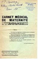 Carnet Medical De Maternité Bourduge Paris Securite Sociale Enfance Famille Mere Nourrisson Examen - Documentos Históricos