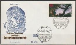 BRD FDC 1974 Nr.815 200.Geb.Caspar David Friedrich  (d 4308 )Günstige Versandkosten - FDC: Enveloppes
