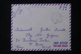 FRANCE / ALGÉRIE - Oblitération  Cap Matifou Marine Sur Enveloppe D'un Matelot En 1957 Pour St Brieuc - L 90596 - Seepost
