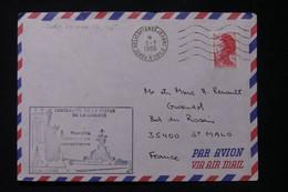 FRANCE- Oblitération  Et Cachet Du Porte Hélicoptère Jeanne D'Arc à New York En 1986 - L 90597 - Seepost