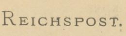 """DEUTSCHES REICH """"BIELEFELD / 1"""" K1 5 Pf Violett GA-Postkarte 1889 ABART VARIETY ERROR - Variétés"""