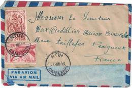 Cameroun - Ntui - Lettre Avion Pour La France (Perigueux) - En Date Du 1er Août 1950 - Peu Courant - Oblitérés