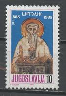 Yougoslavie - Jugoslawien - Yugoslavia 1985 Y&T N°1981 - Michel N°2102 *** - 10d Saint Méthode - Ungebraucht