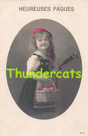 CPA JOLIE JEUNE FILLE RPPC REAL PHOTO POSTCARD YOUNG GIRL PAQUES EASTER CHAPERON ROUGE RED RIDING HOOD - Portretten