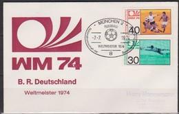 BRD FDC 1974 Nr.811- 812 Fußballweltmeisterschaft In Deutschland  ( D 5707 )günstige Versandkosten - FDC: Enveloppes