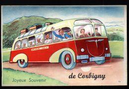 58, Corbigny, Carte A Systeme, Sans Les Photos ( Confectionnement Interrompu ), Autocar - Corbigny