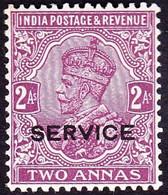 INDIA 1926 KGV 2a Purple 'Service' SGO112 MH - 1911-35  George V