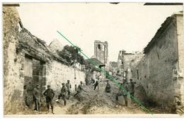 14-18.WWI Allemande Carte Photo. RID Nr.13.Regio Aisne Meuse ? Cerney.Chamouille.Chivy.Cimentiere(4-18) - Guerra 1914-18