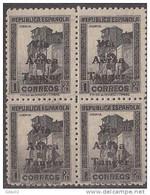 TA138BL4-4047TAN. Maroc.Marocco.Cuenca.TANG ER ESPAÑOL SELLOS DE ESPAÑA AEREA 1938 (Ed 138**BL4) Sin Charnela LUJO RARO - 1931-50 Neufs