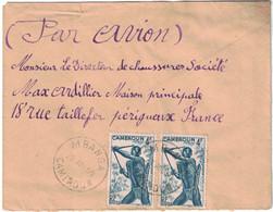 Cameroun - MBanga - Lettre Avion Pour La France - 28 Août 1950 - Oblitérés