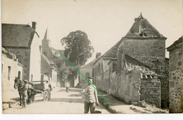 14-18.WWI Allemande Carte Photo.13 RD.Regio Aisne Meuse ? Cerney.Chamouille.Chivy.Eglise (11-18) - Guerra 1914-18