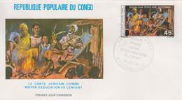 Enveloppe  FDC   1er  Jour   CONGO    Le  Conte  Africain   1979 - FDC
