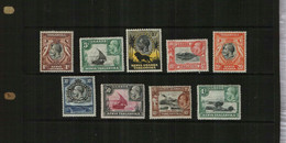KENYA/UGANDA/TANGANYIKA - 1935 - KGV - DEFS - MM - 9 Stamps - Kenya, Uganda & Tanganyika