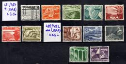 Suisse 1949 Technique & Paysages 481/492 - Unused Stamps