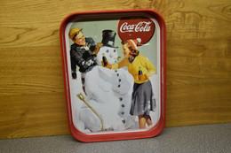 Coca-cola Company Dienblad Winter-sneeuwpop - Plateaux