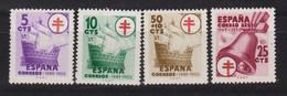 Año 1949 Edifil 1066 A 1069  Serie Pro Tuberculosos - 1931-50 Neufs