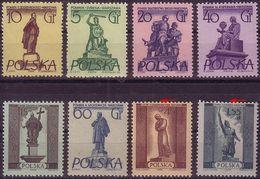 1955, Poland, Mi 907 - 914, Monuments Of Warsaw. Error 2 V. 914, Mickiewicz, Kopernik, Kiliński, M. Curie - Nobel,MNH** - Unused Stamps