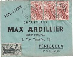 Cameroun - Yokadouma - Lettre Avion Pour La France - Max Ardillier - Affr. 5Fr & 2Fr 3 Août 1950 - Oblitérés