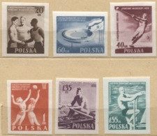1955 Poland International Youth Olympic Games Sport, Stadium, Valleyball, Swimming MNH** - Unused Stamps