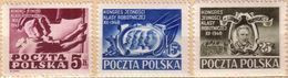 Poland 1948 Mi 508 - 510 Congress Of The Socialist Labor Party Warynski  Flag MNH ** - Unused Stamps