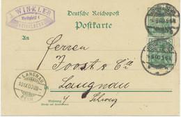 """DEUTSCHES REICH """"HEIDELBERG"""" K2 5 Pf Kab.-Reichspost-GA Mit Dto. Zusatzfrank OHNE WZ.!! - Variétés"""