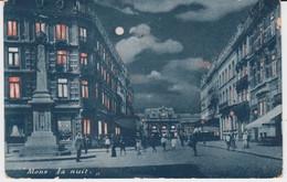 Mons, La Nuit 1905 (Cyanotypie Colonisée) Quartier De La Gare - Mons