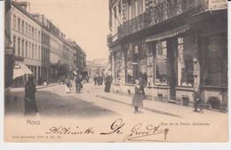 Mons, Rue De La Petite Guirlande (gare Dans Le Fond) Animée 1905 - Mons