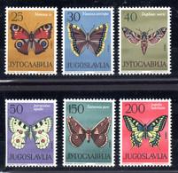 JUGOSLAVIA  1964  FAUNA  FARFALLE - Ungebraucht