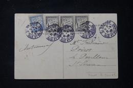FRANCE - Taxes De Saint Servan Sur Carte Postale De Châteauneuf En 1905 - L 90636 - Lettres Taxées