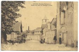 64-ARTHEZ-Route De Lacq Et Garage LUCATS...1943  Animé  (défauts) - Arthez De Bearn