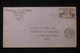 GUADELOUPE - Enveloppe Commerciale De Pointe à Pitre Pour Paris - L 90638 - Lettres & Documents