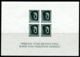 Allemagne Empire BF 1937 Yvert 9 ** TB Non Dentele - Blocks & Kleinbögen