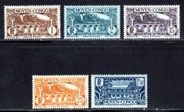 Congo Fran�ais 1933 Yvert 113-114-118-120-129 ** TB - Ungebraucht