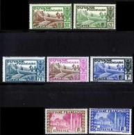 Guyane 1939 Yvert 158 - 159 - 161 / 163 - 165 - 167 ** TB - Neufs
