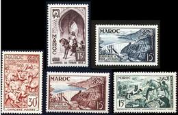 Maroc 1954 Yvert 323 - 324 - 326 - 329 - 330 ** TB Bord De Feuille - Ungebraucht