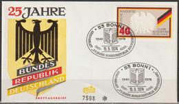 BRD FDC 1974 Nr.807 Aus  Block 10 25 Jahre Bundesrepublik Deutschland ( D 3594 )Günstige Versandkosten - FDC: Enveloppes