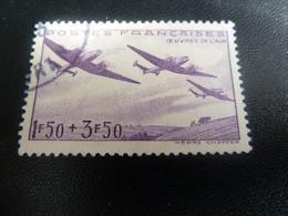 OEUVRES De L'Air - 1f.50+3f.50 - Violet - Oblitéré - Année 1942 - - 1938-42 Mercure