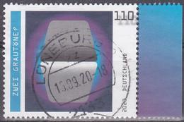 Deutschland 2020. Optische Täuschungen: Zwei Grautöne, Mi 3536 Gebraucht - Usados