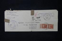 FRANCE - Taxes De Colmar Sur Lettre De L 'Intendance Militaire De Colmar En 1947 - L 90646 - Lettres Taxées