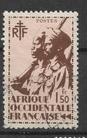 AOF  1945 Soldati Coloniali  USED - Oblitérés