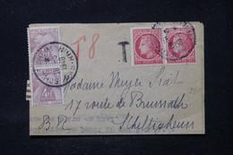FRANCE - Taxes De Schiltigheim Sur Lettre De Strasbourg En 1948, Affranchissement Mazelin 1fr En Paire - L 90648 - Lettres Taxées