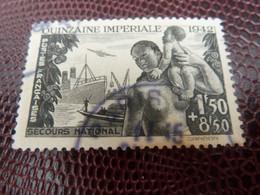 COMITE De Propagande De La Quinzaine Impériale- 1f.50+8f.50 - Noir - Oblitéré - Année 1942 - - 1938-42 Mercure